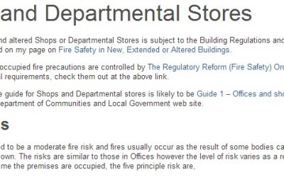 Fire Risk Assessment Helps Avert Fire in Shops and Department Stores